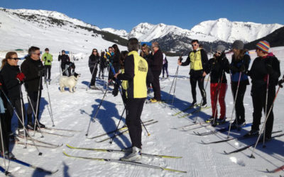 Oferta de clases colectivas de esquí de fondo en Baqueira Beret