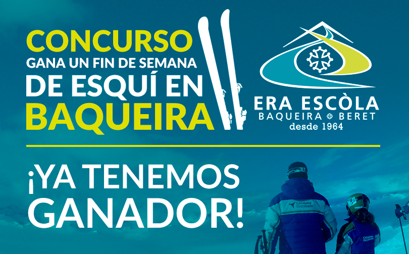Nous avons déjà un gagnant du Concours  «Gana un fin de semana de esquí en Baqueira»